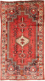 Qashqai Rug 135X245 Authentic  Oriental Handknotted Dark Red/Rust Red (Wool, Persia/Iran)