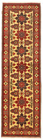 Kazak Rug 81X290 Authentic  Oriental Handknotted Hallway Runner  Rust Red/Dark Red (Wool, Pakistan)