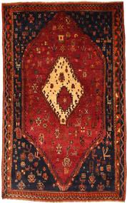 Ghashghai Matto 135X218 Itämainen Käsinsolmittu Tummanpunainen/Ruoste (Villa, Persia/Iran)