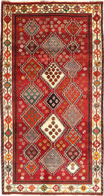 Qashqai Rug 149X285 Authentic  Oriental Handknotted Dark Red/Rust Red (Wool, Persia/Iran)