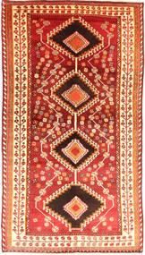 Ghashghai Matto 138X250 Itämainen Käsinsolmittu Ruoste/Tummanpunainen (Villa, Persia/Iran)