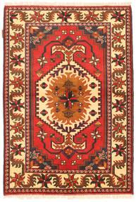 Kazak Matto 105X154 Itämainen Käsinsolmittu Oranssi/Tummanruskea (Villa, Pakistan)