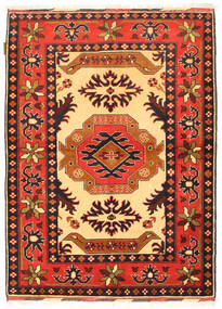 Kazak Rug 107X153 Authentic  Oriental Handknotted Orange/Dark Brown (Wool, Pakistan)