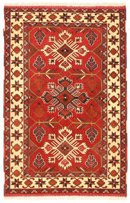 Kazak Rug 103X160 Authentic  Oriental Handknotted Rust Red/Orange (Wool, Pakistan)