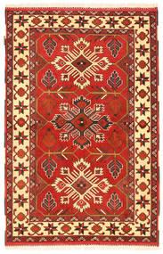Kazak Matto 103X160 Itämainen Käsinsolmittu Ruoste/Oranssi (Villa, Pakistan)