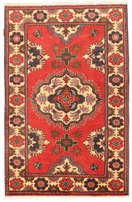 Kazak Matto 99X154 Itämainen Käsinsolmittu Oranssi/Tummanpunainen (Villa, Pakistan)