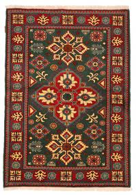 Kazak Matto 126X180 Itämainen Käsinsolmittu Tummanvihreä/Tummanharmaa (Villa, Pakistan)
