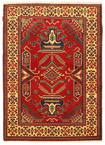 Kazak Vloerkleed 126X177 Echt Oosters Handgeknoopt Roestkleur/Donkerbruin (Wol, Pakistan)