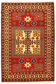 Kazak Matta 123X184 Äkta Orientalisk Handknuten Roströd/Mörkbrun (Ull, Pakistan)