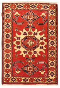 Kazak Vloerkleed 98X143 Echt Oosters Handgeknoopt Roestkleur/Donkerbeige (Wol, Pakistan)