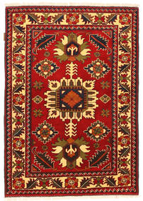 Kazak Vloerkleed 104X151 Echt Oosters Handgeknoopt Roestkleur/Donkerbruin (Wol, Pakistan)