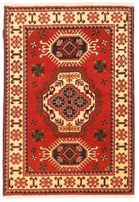 Kazak Vloerkleed 102X153 Echt Oosters Handgeknoopt Roestkleur/Donkerbruin (Wol, Pakistan)