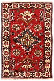 Kazak Matto 98X149 Itämainen Käsinsolmittu Ruoste/Tummanruskea (Villa, Pakistan)