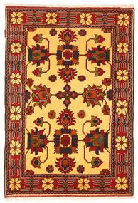 Kazak Vloerkleed 102X160 Echt Oosters Handgeknoopt Roestkleur/Geel (Wol, Pakistan)