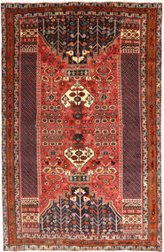 Qashqai Rug 160X251 Authentic  Oriental Handknotted Dark Brown/Brown (Wool, Persia/Iran)