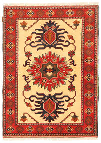 Kazak Rug 108X151 Authentic  Oriental Handknotted Orange/Rust Red (Wool, Pakistan)