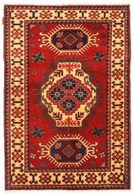 Kazak Rug 109X164 Authentic Oriental Handknotted Rust Red/Dark Brown (Wool, Pakistan)