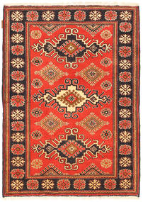 Kazak Rug 104X148 Authentic  Oriental Handknotted Orange/Dark Brown (Wool, Pakistan)