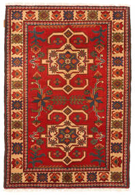 Kazak Matta 101X150 Äkta Orientalisk Handknuten Roströd/Mörkbrun (Ull, Pakistan)
