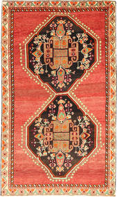 Qashqai Rug 148X253 Authentic  Oriental Handknotted Orange/Dark Brown (Wool, Persia/Iran)