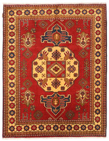 Kazak Rug 155X198 Authentic  Oriental Handknotted Rust Red/Orange (Wool, Pakistan)