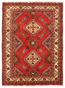 Kazak Matta 152X207 Äkta Orientalisk Handknuten Mörkröd/Roströd (Ull, Pakistan)