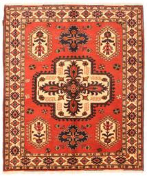 Kazak Rug 158X189 Authentic  Oriental Handknotted Orange/Dark Brown (Wool, Pakistan)