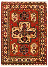 Kazak Rug 147X200 Authentic  Oriental Handknotted Rust Red/Dark Red (Wool, Pakistan)