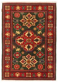 Kazak Matta 123X178 Äkta Orientalisk Handknuten Mörkgrön/Roströd (Ull, Pakistan)