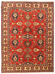 Kazak Rug 150X206 Authentic  Oriental Handknotted Rust Red/Dark Red (Wool, Pakistan)
