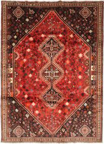 Ghashghai Teppich 208X289 Echter Orientalischer Handgeknüpfter Dunkelbraun/Dunkelrot (Wolle, Persien/Iran)