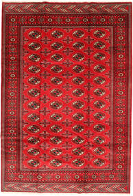 Turkaman Rug 201X293 Authentic  Oriental Handknotted Dark Red/Rust Red/Crimson Red (Wool, Persia/Iran)