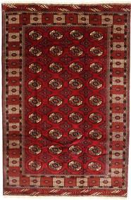 Turkaman Rug 188X288 Authentic  Oriental Handknotted Dark Red/Dark Brown (Wool, Turkmenistan/Russia)