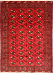 Turkaman Rug 206X281 Authentic  Oriental Handknotted Dark Red/Crimson Red (Wool, Persia/Iran)