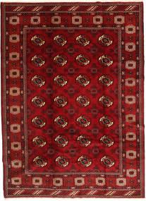 Turkaman Rug 211X290 Authentic  Oriental Handknotted Dark Red/Rust Red (Wool, Persia/Iran)
