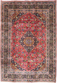 Mashad Rug 202X292 Authentic  Oriental Handknotted Light Brown/Light Grey (Wool, Persia/Iran)
