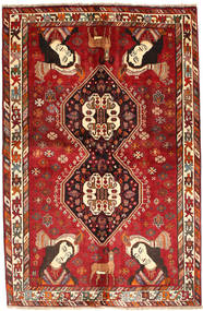 Gashgai Alfombra 157X239 Oriental Hecha A Mano Rojo Oscuro/Óxido/Roja (Lana, Persia/Irán)