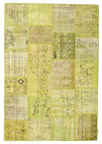 Patchwork Tappeto 157X230 Moderno Fatto A Mano Giallo/Verde Oliva (Lana, Turchia)