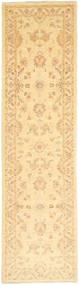 Ziegler Rug 74X287 Authentic  Oriental Handknotted Hallway Runner  Dark Beige/Light Pink/Light Brown (Wool, Pakistan)