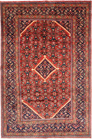 Mahal Rug 197X305 Authentic  Oriental Handknotted Dark Red/Brown (Wool, Persia/Iran)
