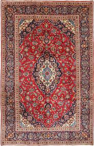 カシャン 絨毯 198X311 オリエンタル 手織り 茶/濃い紫 (ウール, ペルシャ/イラン)