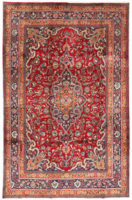 Mashad Rug 197X302 Authentic  Oriental Handknotted Brown/Dark Red (Wool, Persia/Iran)