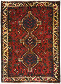 Qashqai Rug 114X159 Authentic  Oriental Handknotted Dark Brown/Rust Red (Wool, Persia/Iran)