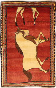 Qashqai Rug 111X171 Authentic Oriental Handknotted Rust Red/Dark Beige (Wool, Persia/Iran)