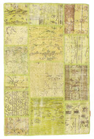 Patchwork Rug 98X150 Authentic  Modern Handknotted Yellow/Olive Green (Wool, Turkey)