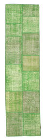 Patchwork Rug 78X300 Authentic  Modern Handknotted Hallway Runner  Light Green/Green  (Wool, Turkey)