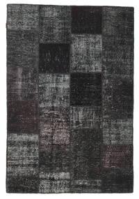 Patchwork Rug 157X232 Authentic  Modern Handknotted Black/Dark Grey (Wool, Turkey)
