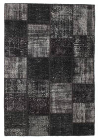 Patchwork Rug 158X232 Authentic  Modern Handknotted Black/Dark Brown (Wool, Turkey)