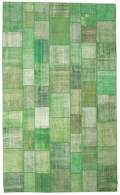 Patchwork Rug 300X500 Authentic  Modern Handknotted Green /Light Green/Pastel Green Large (Wool, Turkey)