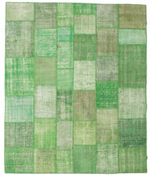 Patchwork Rug 252X300 Authentic  Modern Handknotted Olive Green/Light Green/Green  Large (Wool, Turkey)